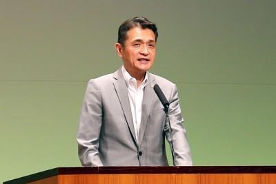 上島一彦 府会議員祝辞